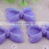 Top quality Halloween shiny loose resin rhinestones bow beads! Bulk resin bow shaped beads for kids necklace jewelry!