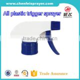 Custom all plastic trigger sprayer for cleaning trigger sprayer bottle and hand trigger sprayer for car wash 28/410