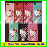 Hello kitty custom silicone mobile 3d phone case for Samsung galaxy A8 cell phone back cover case