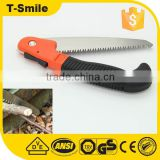180MM 65mn steel Hand garden folding saw with black handle