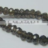 Stone smoky quartz button faceted jewelry beads