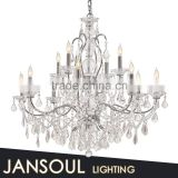 12 lights chrome electroplated iron arm crystal chandelier with custom size                                                                         Quality Choice