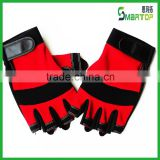 2016 China suppliper good quality cheap red fingerless sports glove