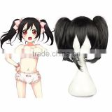 HOT! Anime Cosplay Wig Love Live!School Idol Project Yazawa Nico (Nico Yazawa) wind 28cm black hair ornaments with costume wig