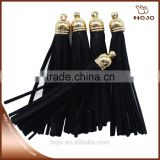 Faux leather tassel 5pcs/blister black for earring and necklace                                                                         Quality Choice