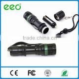 rechargeable china alibaba Ultrafire XM-L LED Zoomable 18650 police security tactical flashlight, self defensive flashlight