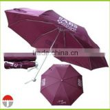 China Umbrella Advertising Light Weight Aluminum Shaft Folded Umbrella