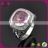 Silver Ring With Stones And High Quality Agate Ring Model Woman