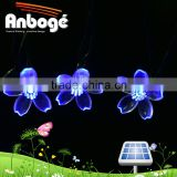 Solar Fairy String Lights 21ft 50 LED Blue Blossom Decorative Gardens, Lawn, Patio, Christmas Trees, Weddings, Parties