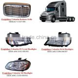 FREIGHTLINER COLUMBIA TRUCK PARTS RADIATOR GRILLE + HEADLIGHT +MIRROR