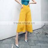 Women's Casual High Waist Loose Wide Leg Pants Plus Size Polyester Clothes Summer Pants