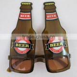 Promotional brown beer bottle Sunglasses, Party eye glasses, Eye glassess with customized shape