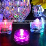 Wedding Deco Flower Shape Waterproof LED Submersible Tea Light Candles Wholesale                                                                         Quality Choice