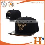 2016 high quality bangladesh caps black leather snapback hat                                                                         Quality Choice