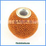 Wholesale Round Orange Indonesia Resin Spacer Beads PCB-M100555