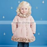 DB2698 dave bella 2015 winter infant coat baby padded jacket girls padded outwear girls down coat jacket