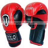 Leather Gel Boxing Gloves Fight Punch Bag MMA Grappling Pad Red