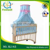hottest sales wooden baby cradle with CE standard