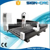 High precision SIGN 1325 cnc stone carving machine / 3d cnc router machine for tombstone artificial marble furniture