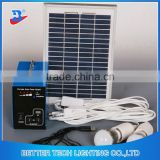 Manufacturer China Solar Power System Home Blue Shell Indoor or Outdoor use 5W Solar Lighting System Kit with led bulbs