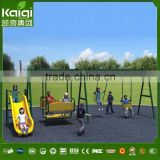 children's slide and swing outdoor play set theme park equipment