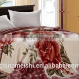 Guangzhou Direct Factory 2.5kgs floral printed Super soft Mink blanket                                                                         Quality Choice