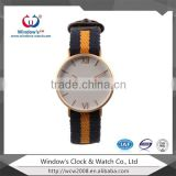 customized brand name japan movt quartz nylon strap watches