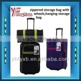 China alibaba 2014 600D Polyester Rolling Wheeled Travel Luggage Duffel Bag with two inline skate wheels and trolley