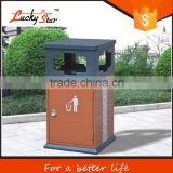 outdoor bulk stainless steel recycling trash can