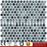 IMARK Mixed Color Glazed Penny Round Ceramic Mosaic Tile For Bathroom/Kitchen/Hotel Wall Decoration