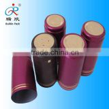 PVC heat shrink wine capsule,metal label