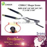 C shape hair curling iron CI004/curling iron stove set/price of hair iron machine
