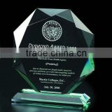 classic glass crystal Trophy awad for events