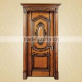 Antique Style Curved Flower Interior Wooden Door