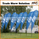 Factory Direct Beach Flag Advertising Flag Display, Printed Polyester Advertising Flag