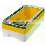 Hospital use plastic and aluminum shoe covering box