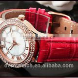Fashion personality prism diamond lady women multi-color leather watch