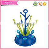 Blue tree stand Multi-functional bottle drying rack for baby feeding bottles