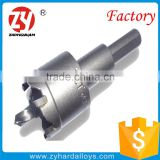straight type YG9X tungsten carbide tipped tct hole saw for metal and stainless steel