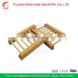 New Arrival Pack Of 2 Unpolished Wooden Dowel Soap Dishes Holder Racks