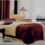 Hot sale 100% microfiber polyester plain dyed peach skin comforter sets