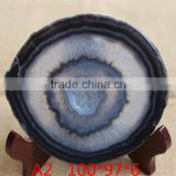 Beautiful blue agate slices wholesale