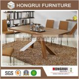 new model luxury dining table / dining room tables and chairs /mdf with walnut veneer top dining table set