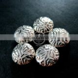 12mm vintage antiqued silver tree branch engraved round flat alloy beads DIY beading supplies 3993017