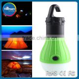 Portable Outdoor Camping Lamp Tent Light Torch Flashlight ABS Plastic 3LED Fishing Lantern Lamp with Hanging Hook
