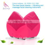 Wholesale beauty massage deep pore clean roller facial massage cream silicone facial cleansing brush