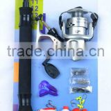 cheap telescopic rod reel fishing combo