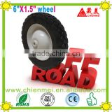 6 inch wheel rubber wheel/solid rubber wheel/Metal rim wheel/Pneumatic wheels/Ruled wheel/Hand Trolley