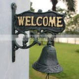 Cast Iron Outdoor Door Bell Metal Wall Mounted Hanging Garden Doorbell Ornament