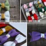 hot sale high quality promotional new product useful item handmade eco friendly felt DIY hair bow for girls